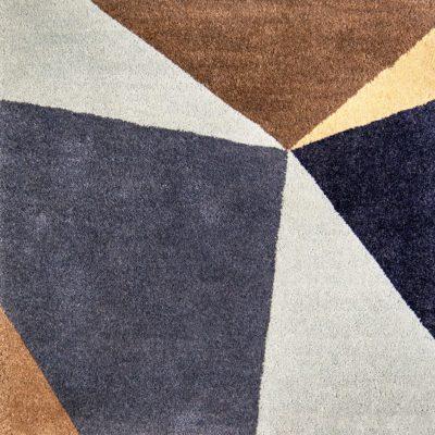 navy blue and grey rug by Jamie Stern Carpet & Rugs