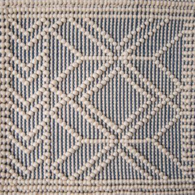 Pearl hand-loomed area rug by Jamie Stern sample